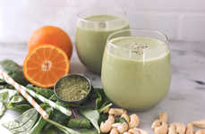 Citrusy Tea Beverages - This Tangy Orange Matcha Smoothie Provides a Coffee-Free Energy Boost