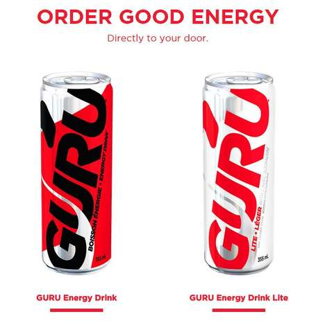 Organic Energizing Refreshments - The GURU Energy Drink is Made with Naturally Occurring Caffeine
