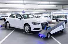 Autonomous Parking Robots - These Car Parking Robots Are Being Used in Audi's Ingolstadt Plant