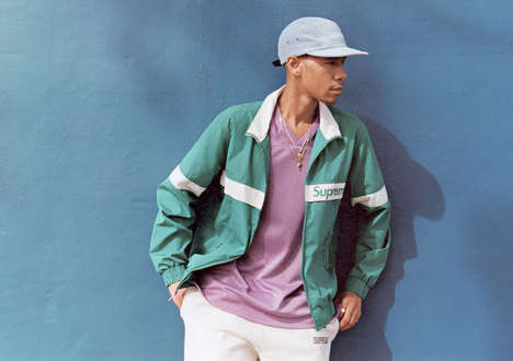 Vibrant 90s Streetwear - The Supreme Spring/Summer 2015 Editorial is Featured in GRIND