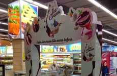 Ice Cream Displays - The King's Brand Provides an In-Store Carnival Experience