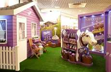 Farm-Inspired Chocolate Displays - Milka Promotes Its Natural Ingredients with a Rustic Brand Design