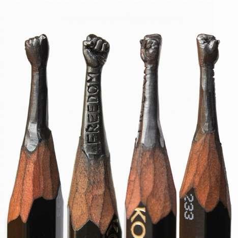 Artistic Pencil Carvings