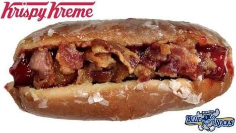 Remixed Stadium Foods - The Krispy Kreme Donut Hot Dog Blends Sweet and Savory Unexpectedly