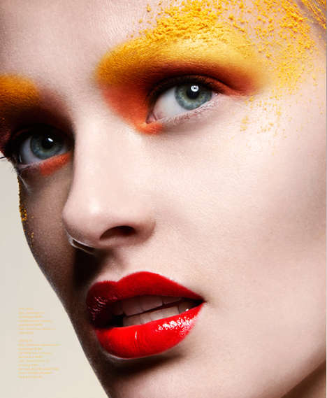Neon Eyeshadow Editorials