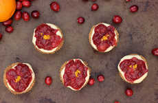 Autumnal Mini Tarts - This Grain-Free Dessert Contains Cashew Creme & Cranberry-Orange Spice Topping