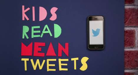 Cyber Bullying PSAs - Kids Read Mean Tweets Plays off of Jimmy Kimmel's Celebrity Segment