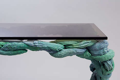 Colorful Molding Furniture - The Plastic Baroque by James Shaw Uses Thermoplastics