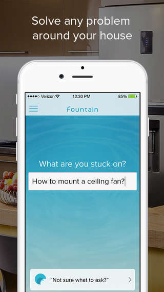 Household Advisor Apps - The Fountain App's Experts Assist Homeowners with DIY Projects
