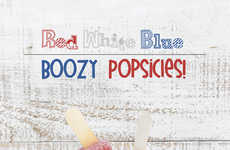 Flag-Themed Boozy Popsicles - Family Spice's Frozen Treats are Infused With Vodka and Raspberry