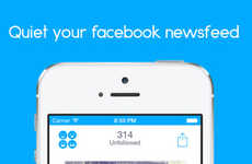 Social Media Curation Apps - The Hushbook App Lets You Unfollow Facebook Friends By Swiping