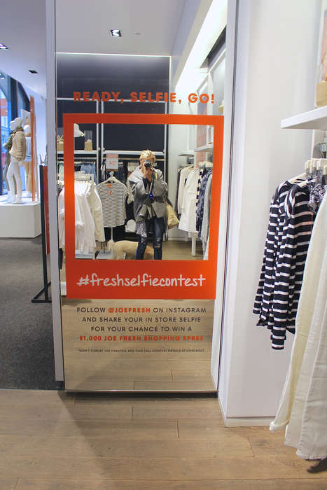 In-Store Selfie Contests - Joe Fresh Embraces Social Media to Focus on Word-of-Mouth Promotion