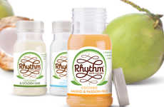 Probiotic Coconut Drinks - Rhythm Health's Coconut Kefir Drinks Do Away with Dairy