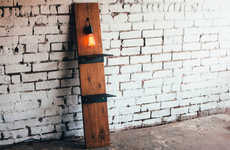 Upcycled Light Shelving