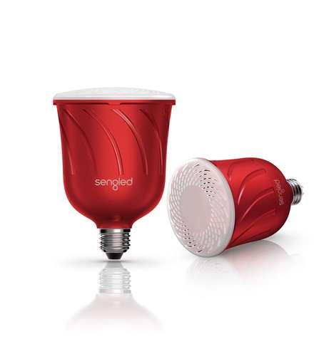 Hybrid Lightbulb-Speakers