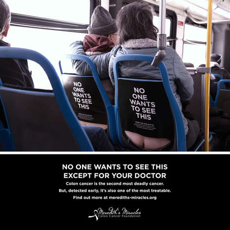 Cheeky Health Campaigns - Cancer Awareness Campaign for Colon Health Brings Humor to Buses