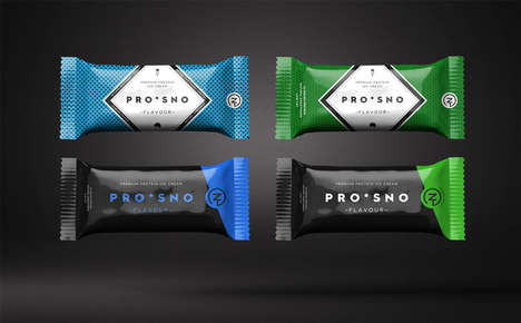 Protein Ice Cream Bars - The Energizing ProSno Ice Cream Line Boasts Sleek Packaging