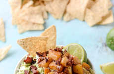 Pineapple Avocado Appetizers - This Goat Cheese and Bacon Guacamole Contains Caramelized Pineapple
