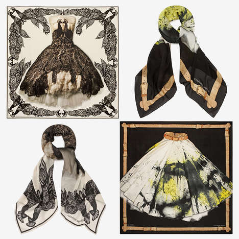 Designer Anthology Accessories - This Alexander McQueen Scarf Range is Created for Savage Beauty
