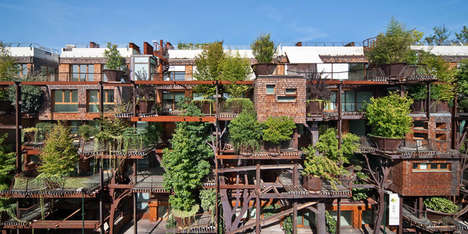 Tree-Covered Apartments - 25 Verde is a Refreshing Mini-Forest in the City of Turin, Italy