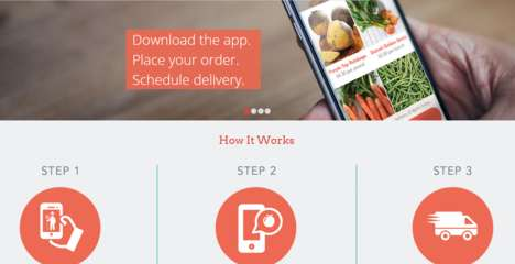 Fresh Produce Apps - The Local Roots App Delivers Farmer Produce to Your Door