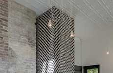 Horizontally Functioning Chimneys - This Horizontal Chimney Flue is Decorated With Intricate Tiles