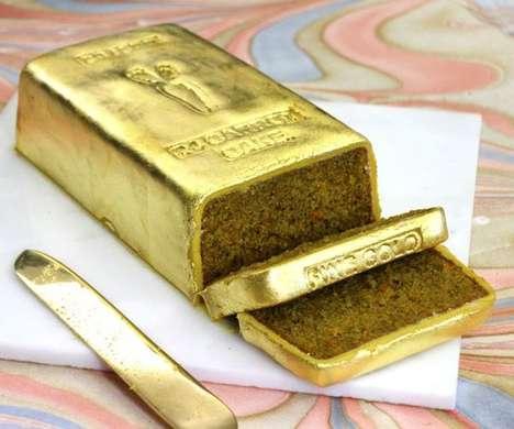 Playful Gold Desserts