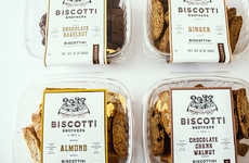 Vintage Biscotti Packaging - The Biscotti Brothers Bakery Branding has an Especially Artisanal Look