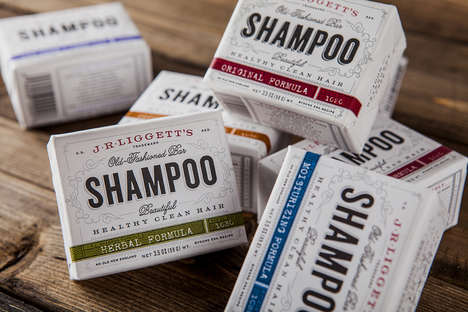 Vintage Solid Shampoo Branding