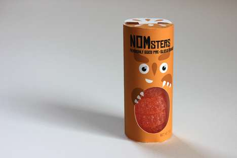 Animalistic Orange Packaging - NOMsters Boxes Feature Engaging Imagery of Fruit-Eating Beasts
