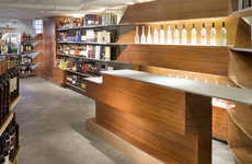 Futuristic Liquor Store Displays - Doma Liquors Boasts Wooden Shelving That is Bar-Themed