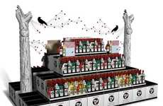 Spooky Wine Kiosks - This Ravenswood Retail Wine Display Concept is Dark and Delightful