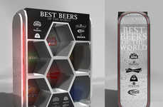 Bold Beer Displays - Eddy Flores Designs Eye-Catching Stands for the 'Best Beers in the World'