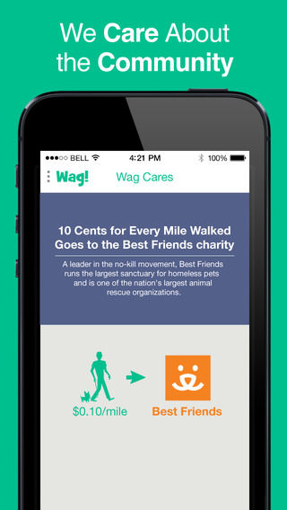 Dog Exercising Apps : Wag dog walking app