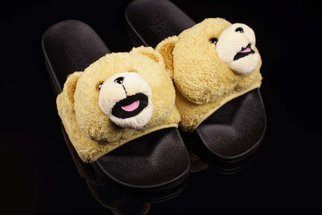 Plush Toy Sandals - This Pair of Jeremy Scott Adidas Slides are Charismatic and Playful
