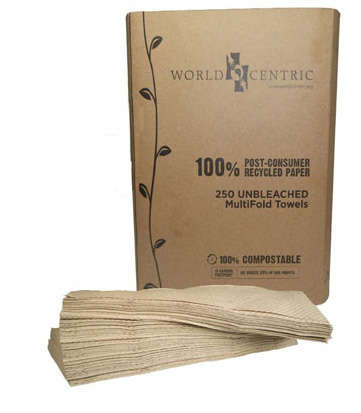 Repurposed Paper Towels - World Centric's Organic Paper Towels are Recycled and Unbleached