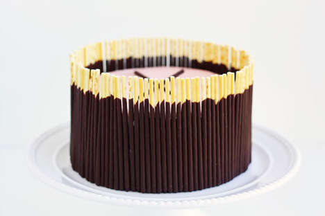 Japanese Snack Cakes - Julep's Pocky Cake is Shaped to Resemble a Clock