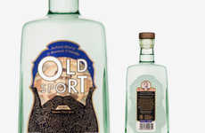 Bearded Booze Bottles - This Charming Gin Bottle Design was Created for Old Sport Gin