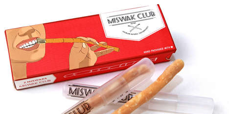 Natural Toothbrushing Sticks - Miswak Club Uses Parts of a Tree to Promote Good Oral Hygiene