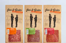 Graphical Food Branding - This Contemporary Processed Meat Packaging Design Targets Millennials