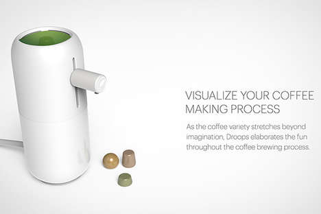 Eco Coffee Pods - The Droops Coffeemaker Would Use Dissolvable Java Capsules for Responsible Brewing