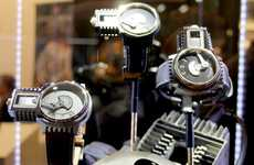 Industrial Novelty Watches - The Timeburner Pays Tribute to Early Combustion Engines