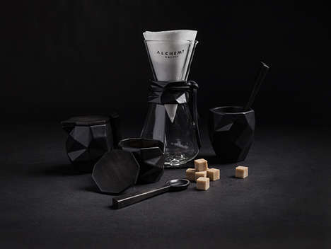 Dark Ritualistic Branding - This Alchemy Coffee Co Branding is Ultramodern and Gothic