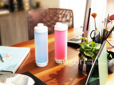 Filtering Water Bottles - Sukori by Fan Bao Brings Portability to Potability