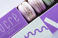 Feminine Confectionary Branding - This Cute Macaron Packaging Boasts A Simplistic Design