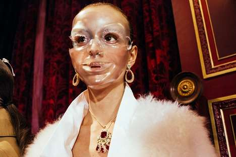 Plastic Mask Runways - The AW15 Undercover Plastic Surgery Runway Screams Youthful Beauty