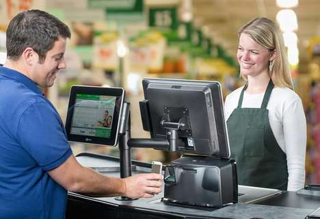 Two-Sided Payment Platforms - Maxeda's POS System Includes a Screen for Employees and Shoppers