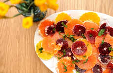 Succulent Citrus Salads - This Orange-Infused Recipe is Full of Fresh Fruits and Topped with Herbs