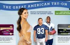 Celebrity Underwear Endorsements - Great American Try-On by Depends Puts Products on Active Stars