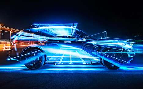 Light Graffiti Photography - Inspired Light by Patrick Rochon Transforms Infiniti Vehicles